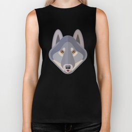 Gray wolf Biker Tank