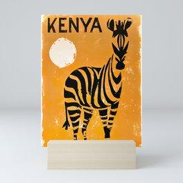 Kenya Vintage Travel Poster Mini Art Print