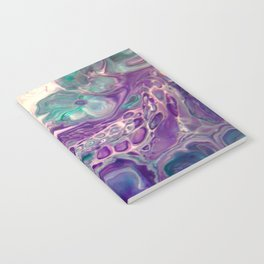Lilies On A Purple Pond - Abstract Acrylic Art by Fluid Nature Notebook