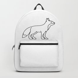 Fox Lineart Drawing Backpack