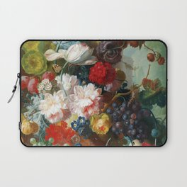 Fruit and Flowers in a Terracotta Vase by Jan van Os Laptop Sleeve