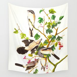 Great Cinereous Shrike, or Butcher Bird Wall Tapestry