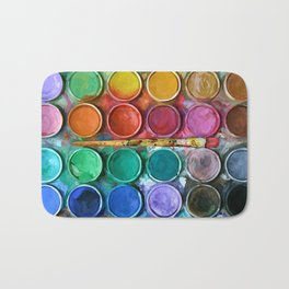 Watercolor Rainbow Abstraction palette iPhone 4 5 6 7, pillow case, mugs and tshirt Bath Mat