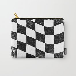 Grunged Chequered Flag Carry-All Pouch