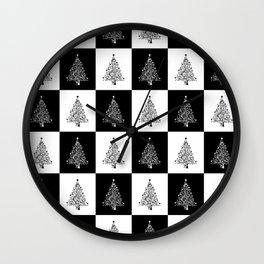 Christmas Tree Chess Wall Clock
