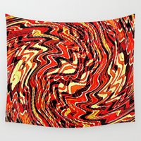 agate Wall Tapestries featuring Fire Agate by David Lee