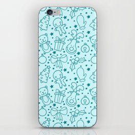 Cute Doodle Christmas Pattern iPhone Skin