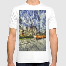 Budapest Vincent Van Gogh Mens Fitted Tee MEDIUM White
