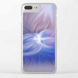 A Winter Night Twirled Clear iPhone Case