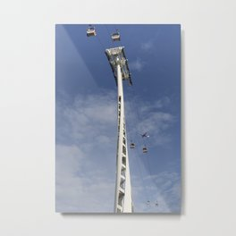 Emirates Cable Car And Flybe Aircraft Metal Print