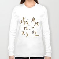 fight Long Sleeve T-shirts featuring Fight! by Joe Lillington