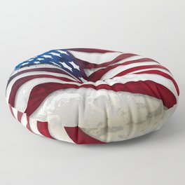 Old Glory...long may she wave Floor Pillow