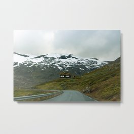 Cabin in the Mountains (Norway) Metal Print