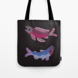 Salmon - dark Tote Bag
