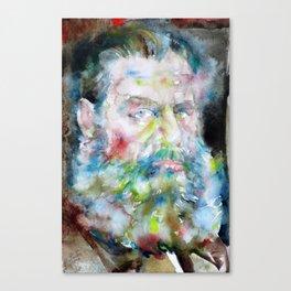 LEO TOLSTOY - watercolor portrait Canvas Print