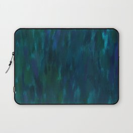Blue Abstract Impressionism Laptop Sleeve