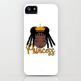 African American Black Baby Girl Princess iPhone Case