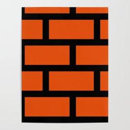 Brick Pattern Poster