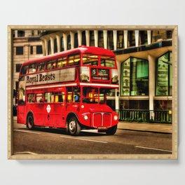 Trafalgar Square London Double Decker Bus Serving Tray