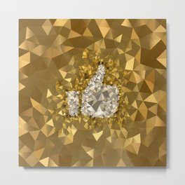POLYNOID Like / Gold Edition Metal Print