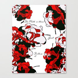 Floral | The Path is There Canvas Print
