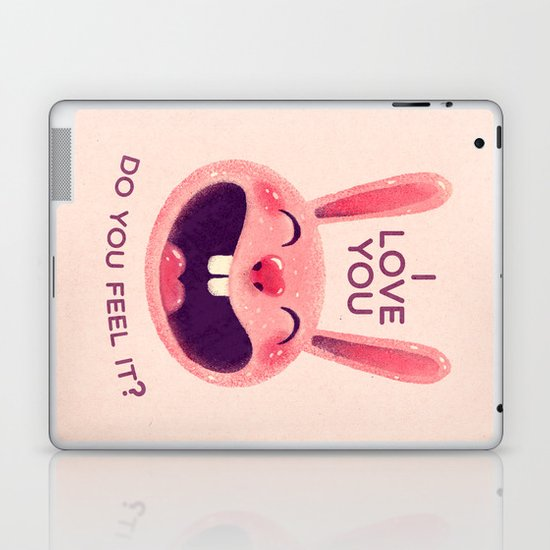 Bunny with love Laptop & iPad Skin