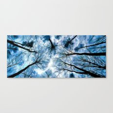 Trees Reaching For The Sky - Painting Style Canvas Print