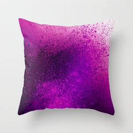 Vivid Hot Pink Spray Paint Art Throw Pillow