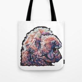 Labradoodle Doodle Dog Portrait bright colorful Pop Art Paintin by LEA Tote Bag