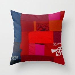 MERICA - T Collage Throw Pillow