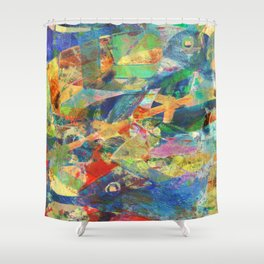 Tuna Fishing Shower Curtain