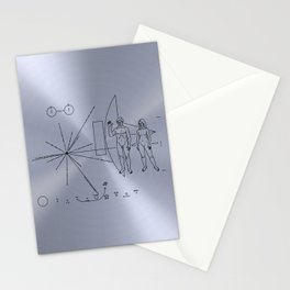 NASA space plaque: Pioneer 10 plaque (1972) Stationery Cards