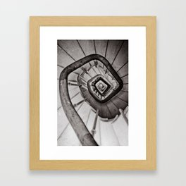 Wooden stairs Framed Art Print