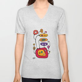 Broadcast in Full Color Unisex V-Neck
