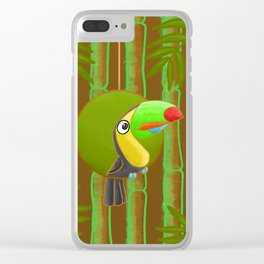 Happy Toucan! Clear iPhone Case
