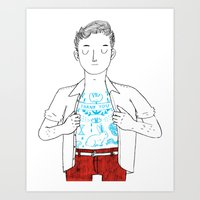 Thank You Tattoo Art Print