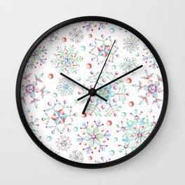 Snowflake Kaleidoscope Wall Clock