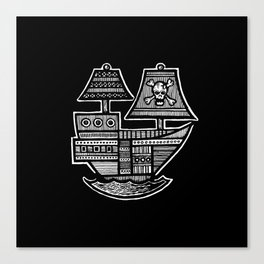 Pirate Ship - Hollow Soul Canvas Print