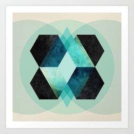 Galaxy Hex Art Print