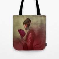 blood Tote Bags featuring Blood by Yoncho Yonchev