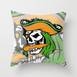 Pirate + Carrot = PAROT Throw Pillow