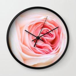 Fresh Pink Flower Wall Clock