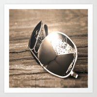 sunglasses Art Prints featuring Sunglasses by Cs025