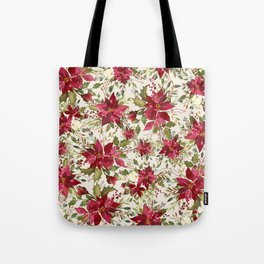 POINSETTIA - FLOWER OF THE HOLY NIGHT Tote Bag