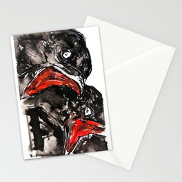 Crow Mouth Stationery Cards