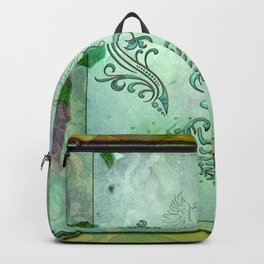 Music, decorative clef with floral elements Backpack