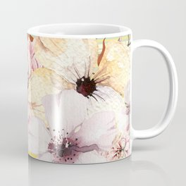 Floral Spring Stripes Coffee Mug