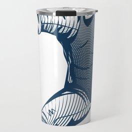 Fencer. Print for t-shirt. Vector engraving illustration. Travel Mug