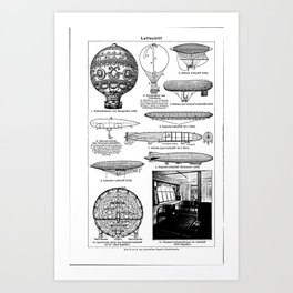 Airships / Air Balloons II Art Print
