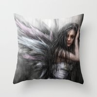 fairy Throw Pillows featuring Fairy by Justin Gedak